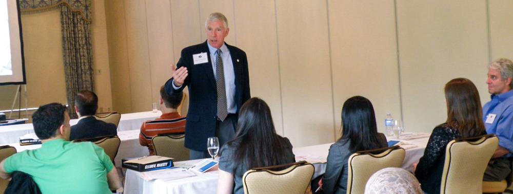 Wayne Kerr speaking at an event